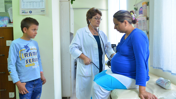 A health center in Tirana - Dr. Lindita in a routine day work to deliver health services and counselling to mothers