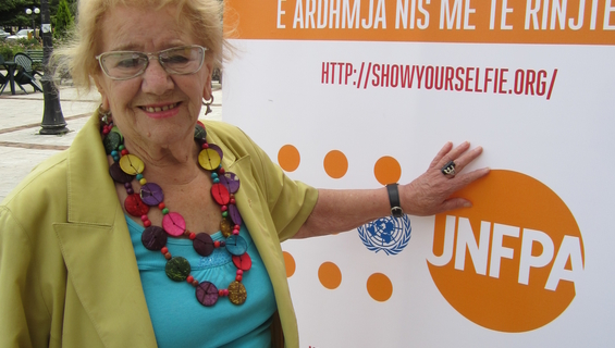 Well-known Albanian actress, Mrs. Tinka Kurti, an advocate of healthy ageing and inter-generational partnerships